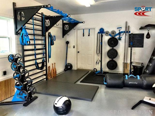 tập gym tại nhà rất tiện