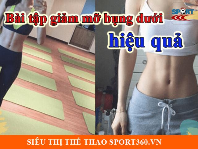 Bài tập giảm mỡ bụng dưới hiệu quả