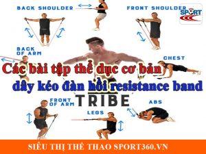 Tập thể dục với dây kéo đàn hồi resistance band