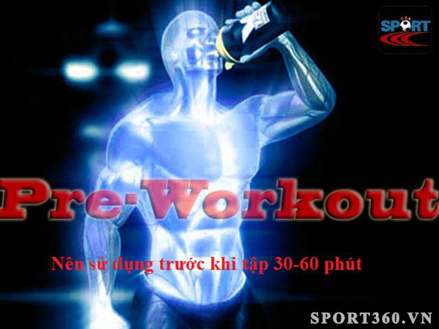 dùng pre workout để bổ sung năng lượng trước buổi tập