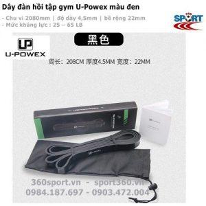 Dây kháng lực tập gym U-Powex màu đen