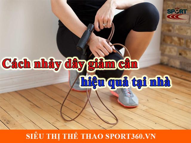 Cách nhảy dây giảm cân hiệu quả tại nhà