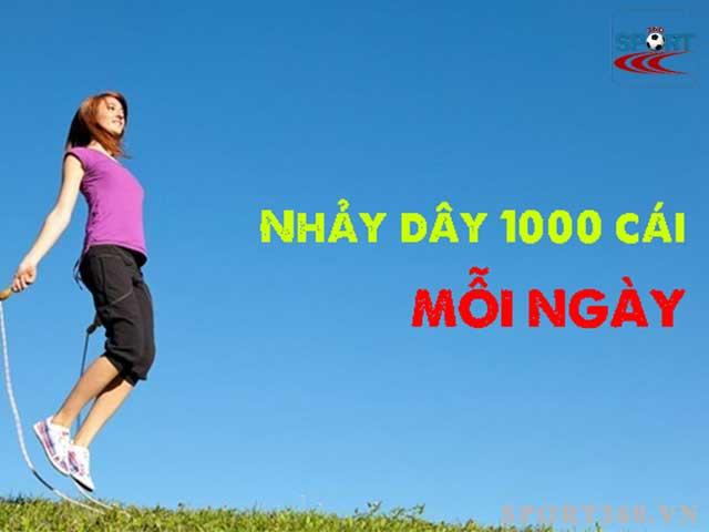 Nhảy dây 1000 cái tiêu bao nhiêu calo sẽ tùy thuộc vào cân nặng và cường độ