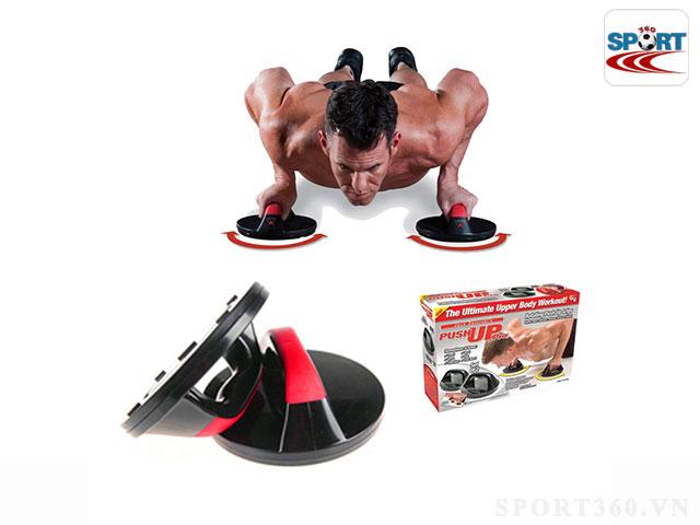 Dụng cụ tập gym hít đất xoay 360 độ push up grips