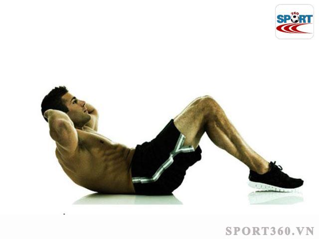 Động tác Crunches giúp tăng cường các cơ vai, bụng dưới