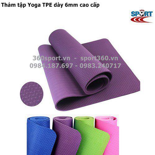 Thảm tập Yoga TPE dày 6mm cao cấp
