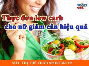 Thực đơn low carb cho nữ giảm cân hiệu quả