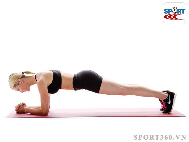 Bài tập Plank giúp eo thon