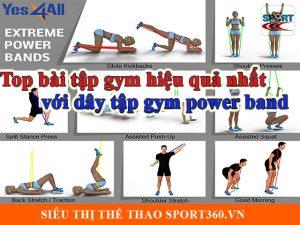 top bài tập gym hiệu quả nhất với dây tập gym power band
