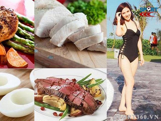 Nên kết hợp cùng chế độ ăn uống hợp lý khi tập mông chân