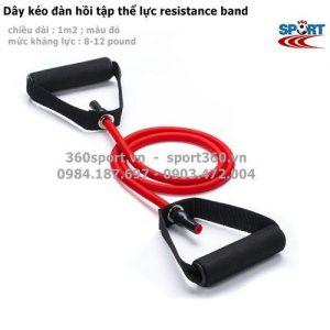 dây đàn hồi resistance band màu đỏ