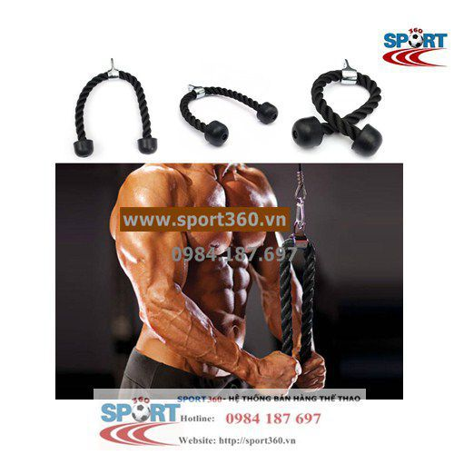 Dây thừng tập tay sau tricep rope