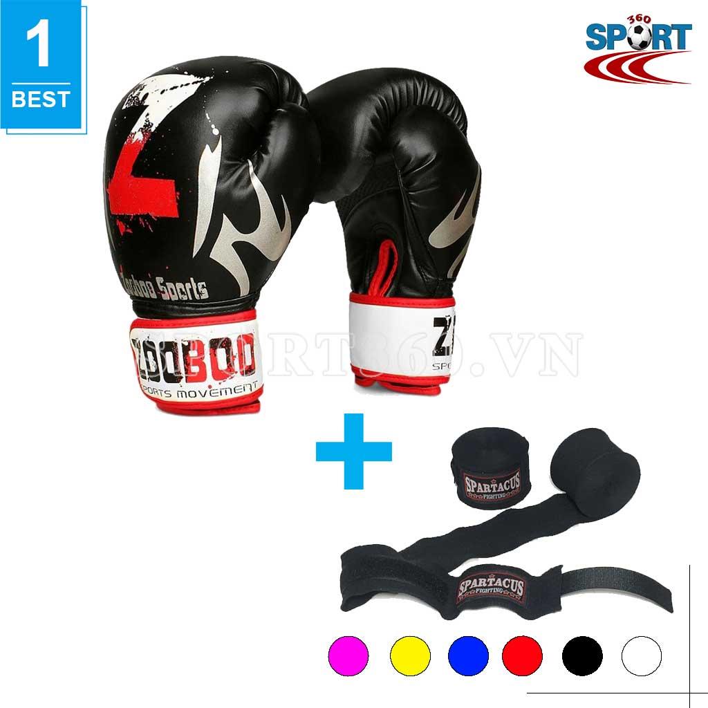 [COMBO-01] Găng tay boxing chữ Z + Băng quấn tay Spatacus