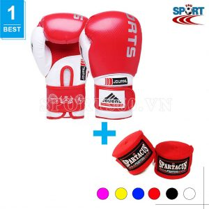 [COMBO-03] Găng tay boxing JDUANL + Băng quấn tay Spatacus