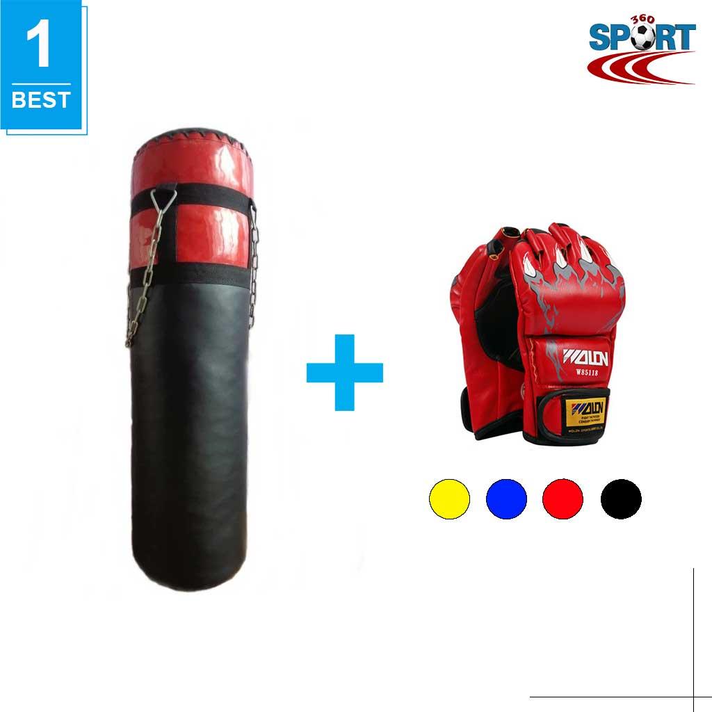 [COMBO-07] Bao cát đấm bốc tập võ + Găng tay MMA hở ngón