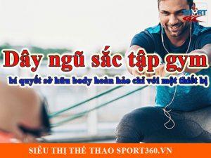 Dây ngũ sắc tập gym - bí quyết sở hữu body hoàn hảo chỉ với một thiết bị